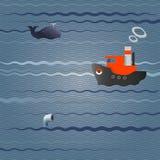 Navio no mar Foto de Stock Royalty Free