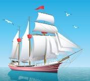 Navio no mar aberto Imagem de Stock