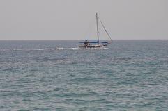 Navio no mar em Chipre Imagens de Stock Royalty Free