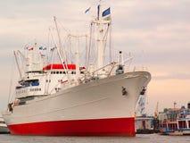 Navio no porto Foto de Stock