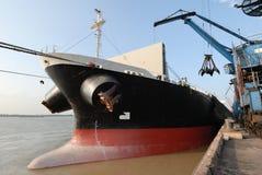 Navio no porto Foto de Stock Royalty Free