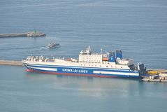 Navio no porto de Salerno fotografia de stock royalty free