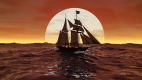 Navio no sol Imagem de Stock Royalty Free