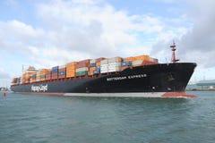Navio Rotterdam da caixa do recipiente expresso Fotografia de Stock