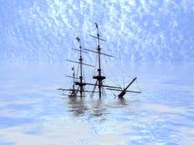 Navio Sunken ilustração royalty free