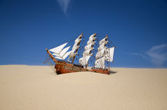 Navio Sunken Foto de Stock Royalty Free