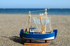 Navio Toy Model da vela Foto de Stock Royalty Free