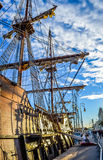 Navio velho espanhol em Barcelona Foto de Stock