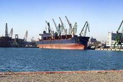 Navio velho no porto Fotos de Stock