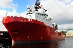Navio vermelho Foto de Stock Royalty Free