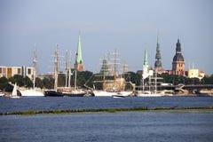Navios altos em Riga Imagens de Stock Royalty Free