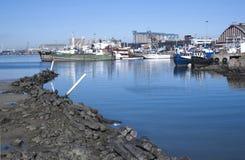Navios amarrados no porto em Durban África do Sul Foto de Stock Royalty Free