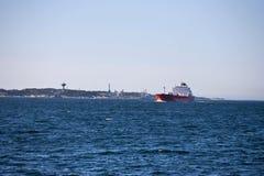 Navios de carga no mar Imagem de Stock Royalty Free