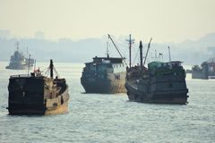 Navios de carga velhos Fotos de Stock Royalty Free
