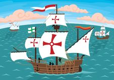 Navios de Columbo ilustração royalty free