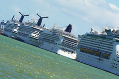 Navios de cruzeiros Fotografia de Stock