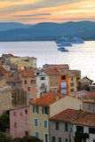 Navios de cruzeiros em St.Tropez Fotos de Stock