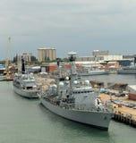 Navios de guerra britânicos Fotografia de Stock Royalty Free