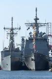 Navios de guerra dos E.U. Fotografia de Stock Royalty Free