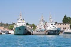 Navios de guerra ucranianas Imagens de Stock Royalty Free