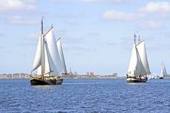 Navios de navigação tradicionais nos Países Baixos Fotografia de Stock