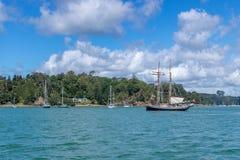 Navios de Russell Harbor With Old Sailing fotos de stock