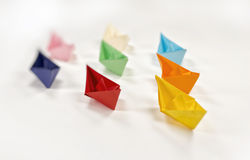 Navios do papel Imagem de Stock