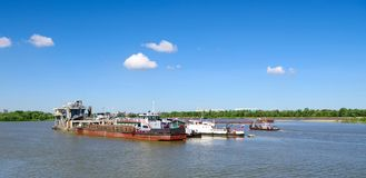 Navios do rio Imagens de Stock Royalty Free