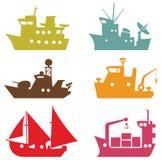 Navios do vetor ilustração royalty free
