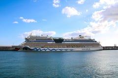 Navios e forros bonitos do cruzeiro Foto de Stock Royalty Free
