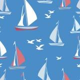 Navios e gaivotas Fotos de Stock Royalty Free