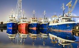 Navios em Klaipeda foto de stock