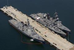 Navios em San Diego imagens de stock