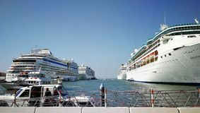 Navios em Veneza Foto de Stock Royalty Free