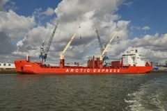 Navios industriais na doca Fotografia de Stock Royalty Free
