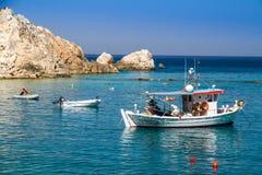 Navios na água Fotos de Stock Royalty Free