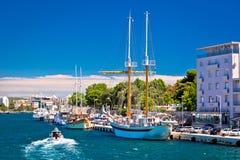Navios na opinião do porto de Zadar Foto de Stock