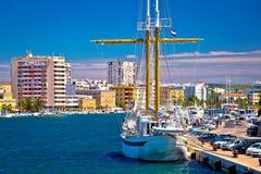 Navios na opinião do porto de Zadar Fotos de Stock