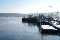 Navios no inverno imagem de stock