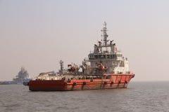 Navios no mar árabe Imagem de Stock