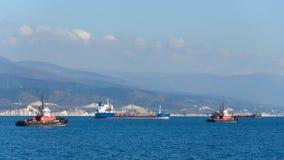 Navios no mar imagem de stock