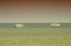 Navios no mar Fotos de Stock Royalty Free