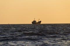 Navios no mar Fotografia de Stock Royalty Free