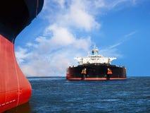 Navios no mar Fotografia de Stock