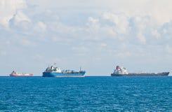 Navios no mar Mediterrâneo perto de Chipre Fotografia de Stock