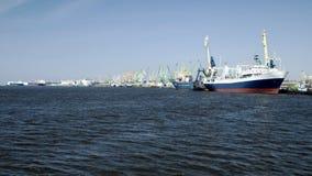 Navios no porto Imagem de Stock