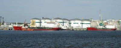 Navios no porto Foto de Stock