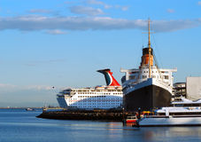 Navios no porto fotografia de stock royalty free