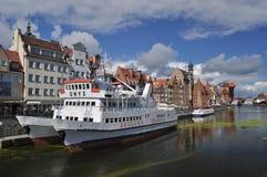 Navios no porto de Gdansk Fotografia de Stock