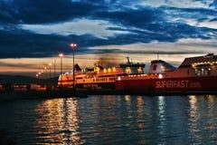 Navios no porto de Patras imagens de stock royalty free